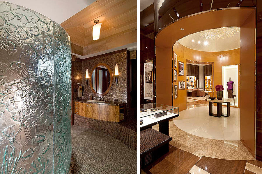Private residence bath Right & Louis Vuitton at Bellagio