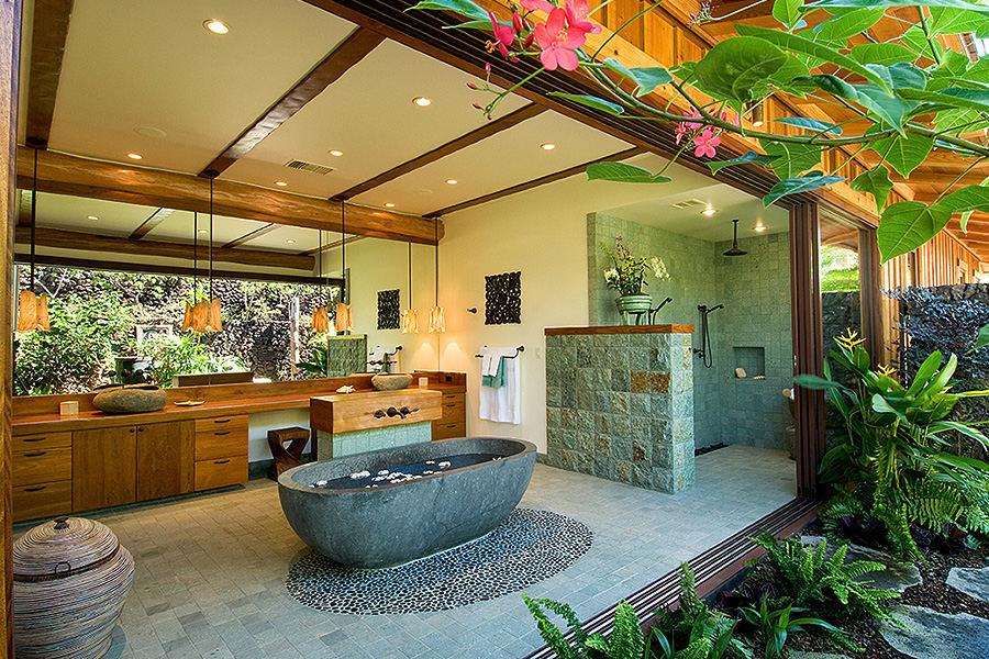Big Island residence open air bathroom