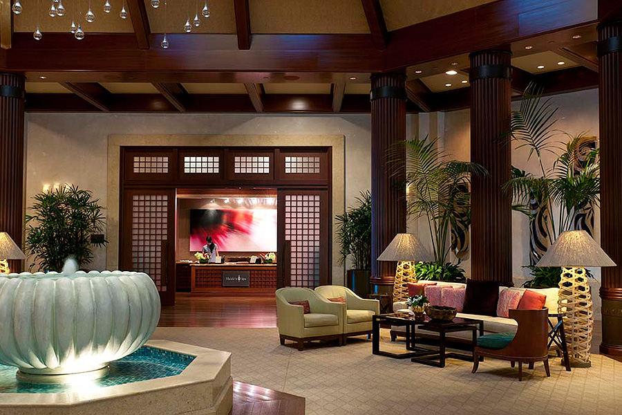 St. Regis Hotel lobby, Princeville, Hawaii