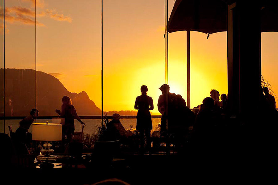 Sunset at the St Regis Hotel, Princeville Hawaii