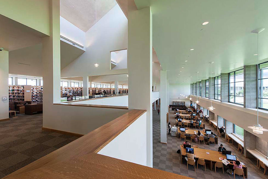 Library at University of Hawaii, West Oahu Campus, by John Hara & Assocs