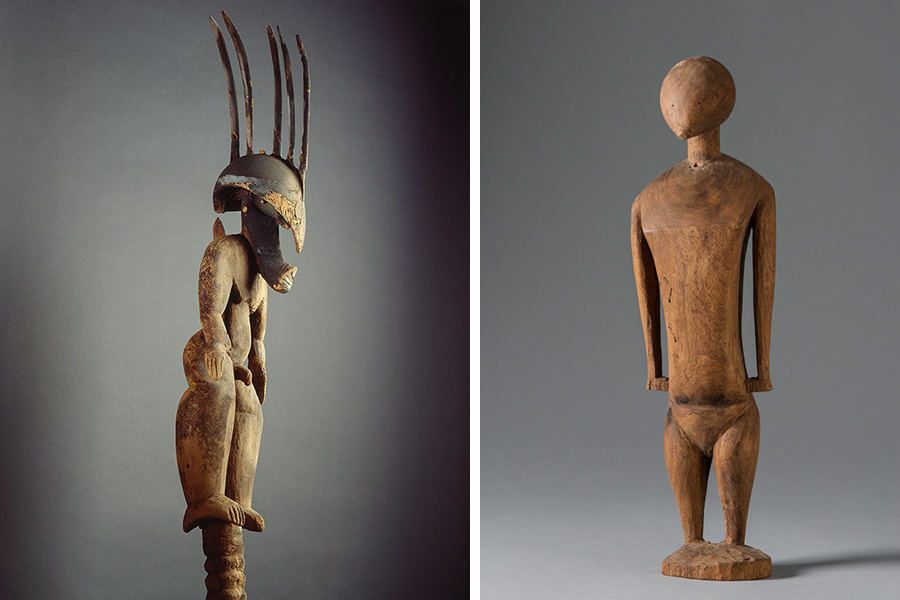 Carved Wood Figures for the  Bishop Museum