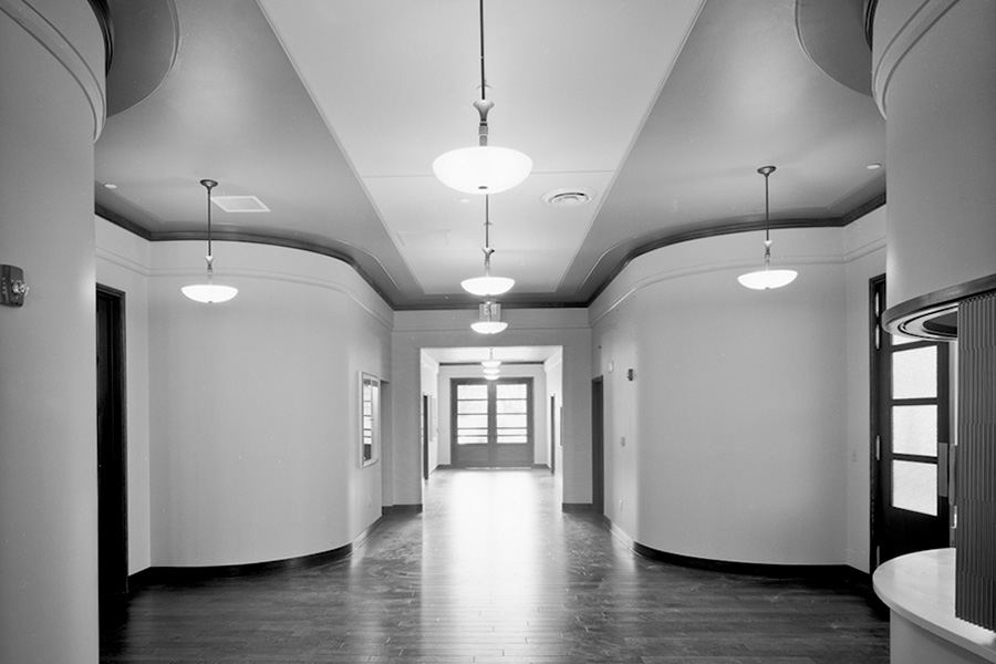 Building 422 interior, Hickam AFB, Mason Architects