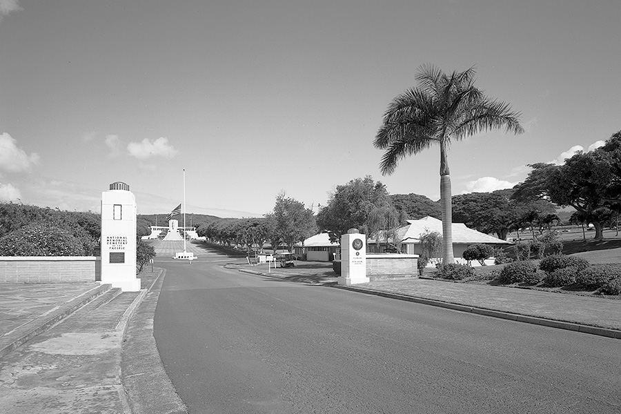 Punchbowl National Cemetery entrance, Honolulu