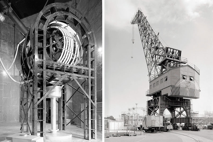 VLF transmission facility and Pearl Harbor Crane