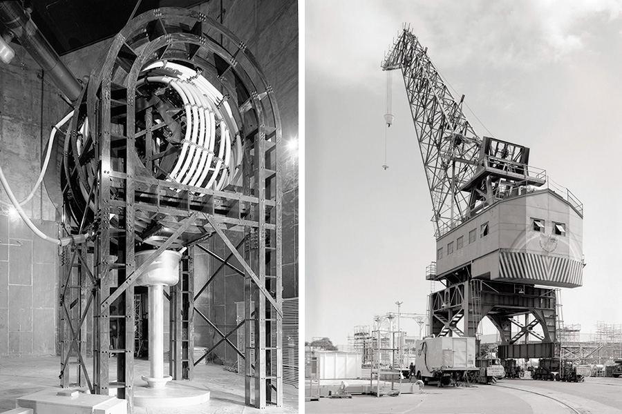 VLF transmission facility and Pearl Harbor Crane